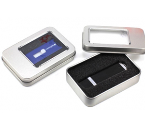 Compact metal tin for usb drives